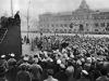 39. В.И.Ленин произносит речь на Красной площади в день празднования 1-й годовщины Великой Октябрьской социалистической революции. Москва, 7 ноября 1918 года
